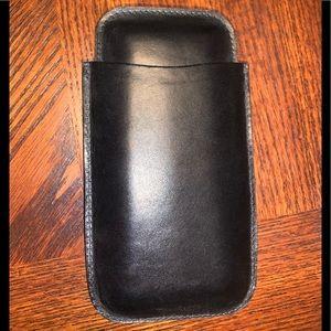 Sheridan 3 Finger Leather Cigar Case